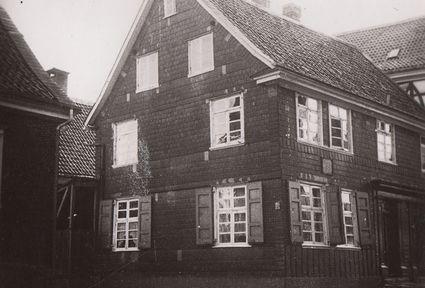 Wilhelm Conrad Röntgens Geburtshaus in der Lenneper Altstadt, Gänsemarkt 1