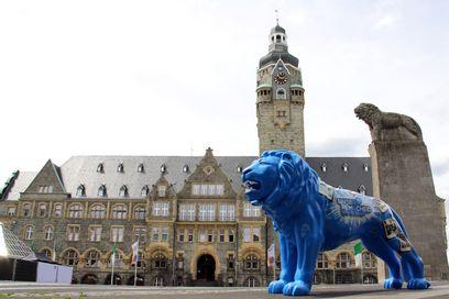 Remscheider Löwe auf dem Rathausplatz